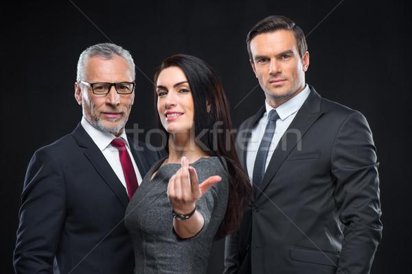 Drie naar camera zakenvrouw Stockfoto © LightFieldStudios