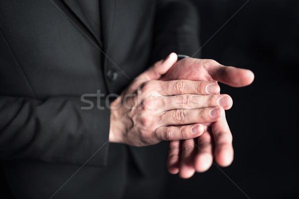 ビジネスマン 拍手 手 クローズアップ 表示 黒 ストックフォト © LightFieldStudios