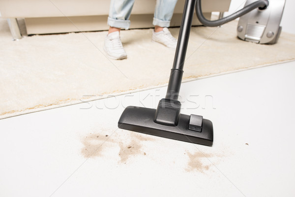 Woman with vacuum cleaner  Stock photo © LightFieldStudios