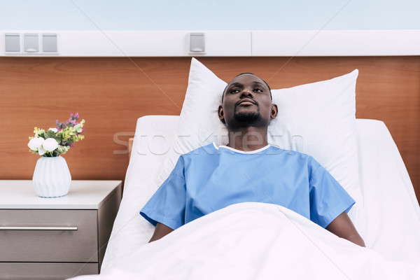 african american man in hospital Stock photo © LightFieldStudios