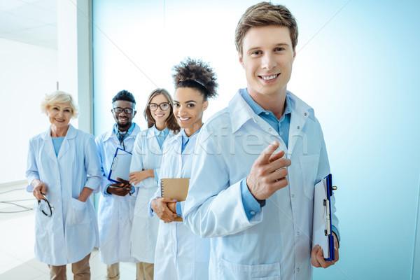 group of smiling doctors Stock photo © LightFieldStudios