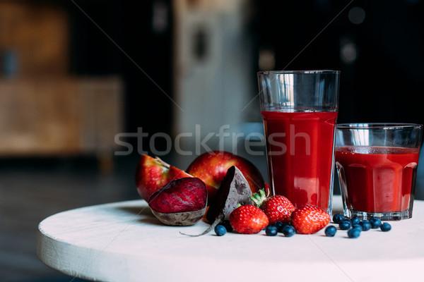 fruit smoothie Stock photo © LightFieldStudios