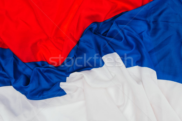 close up view of folded russian flag background Stock photo © LightFieldStudios