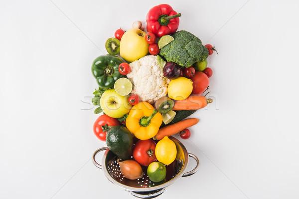 здоровое питание овощей плодов изолированный белый зеленый Сток-фото © LightFieldStudios