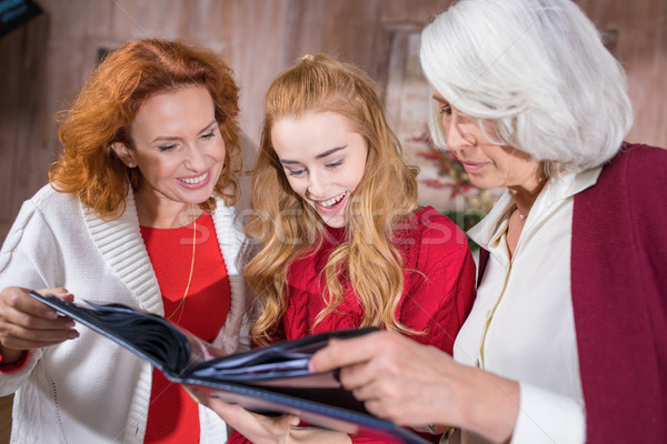 Family looking at photo album Stock photo © LightFieldStudios