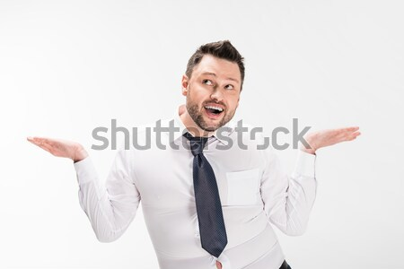 Boy showing rock sigh Stock photo © LightFieldStudios
