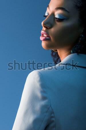 Mädchen posiert Schleier anziehend sinnliche isoliert Stock foto © LightFieldStudios