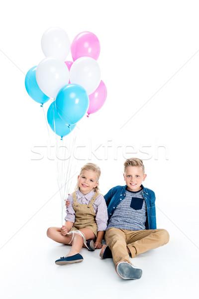 Felice ragazzi palloncini cute piccolo ragazzo Foto d'archivio © LightFieldStudios