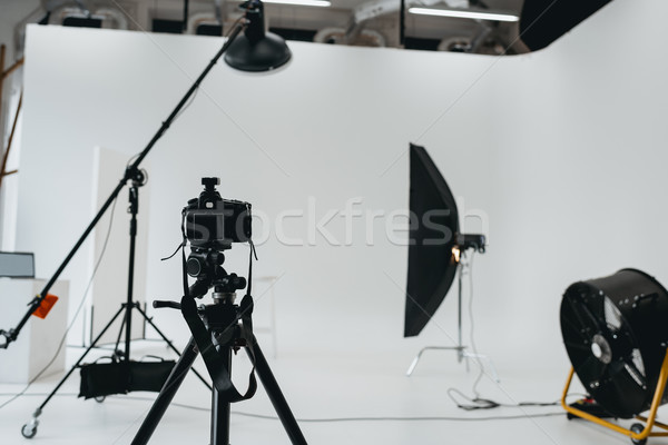 Foto studio verlichtingsapparatuur digitale camera fan Stockfoto © LightFieldStudios