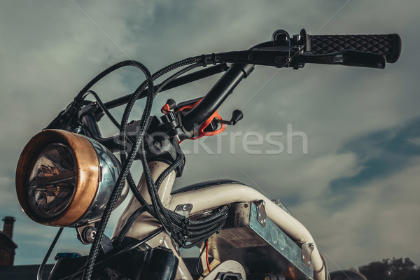 Moto vintage piedi fuori urbana Foto d'archivio © LightFieldStudios