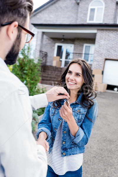 woman buying new house Stock photo © LightFieldStudios