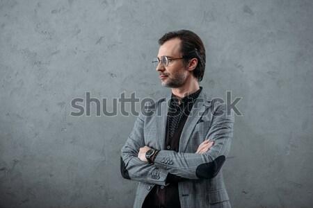 Stock photo: stylish businessman with wristwatch