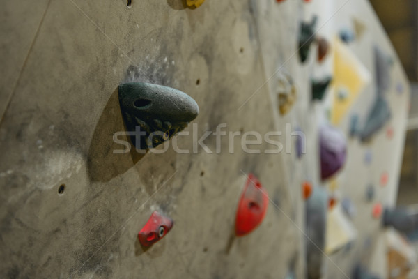 Grips on climbing wall Stock photo © LightFieldStudios