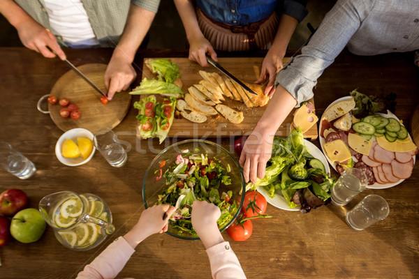 family preparing dinner Stock photo © LightFieldStudios