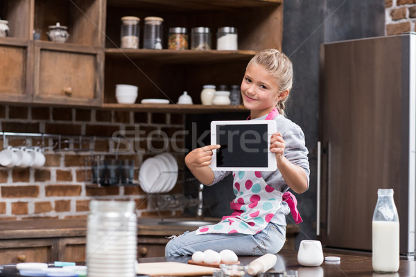 child with digital tablet Stock photo © LightFieldStudios