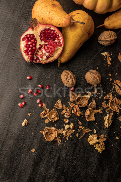 organic fruits and walnuts Stock photo © LightFieldStudios