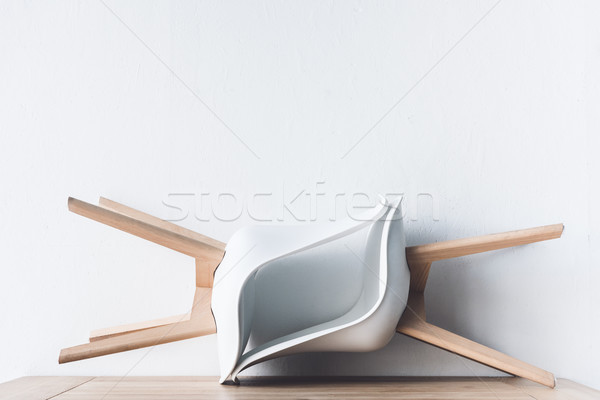 chairs on wooden tabletop Stock photo © LightFieldStudios