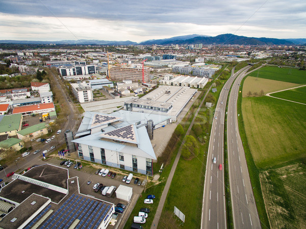 Aerial view of urban city and road in Germany Stock photo © LightFieldStudios
