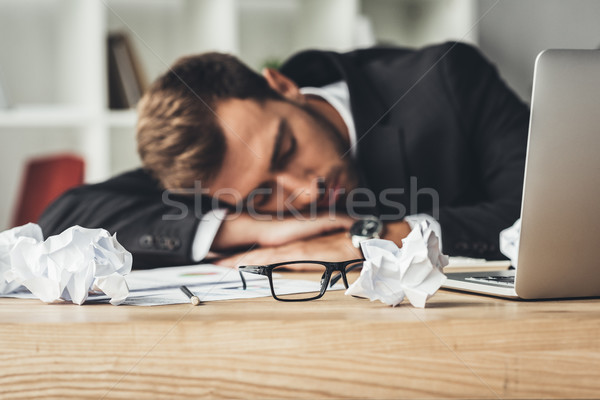 sleeping businessman Stock photo © LightFieldStudios