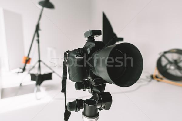 Numérique photo caméra studio matériel d'éclairage fan Photo stock © LightFieldStudios