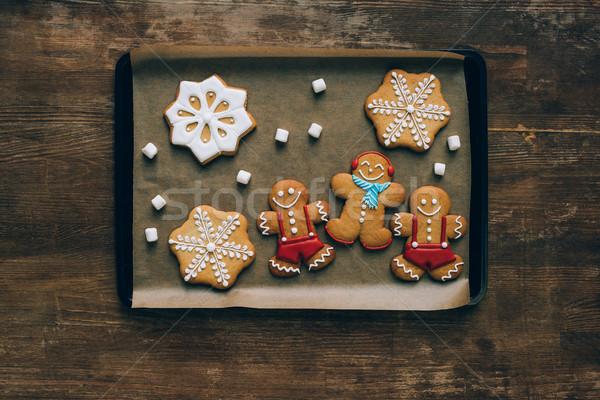 Taca górę widoku domowej roboty christmas Zdjęcia stock © LightFieldStudios