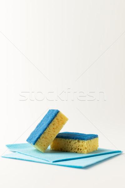 Stock fotó: Közelkép · kilátás · takarítás · izolált · fehér · csoport