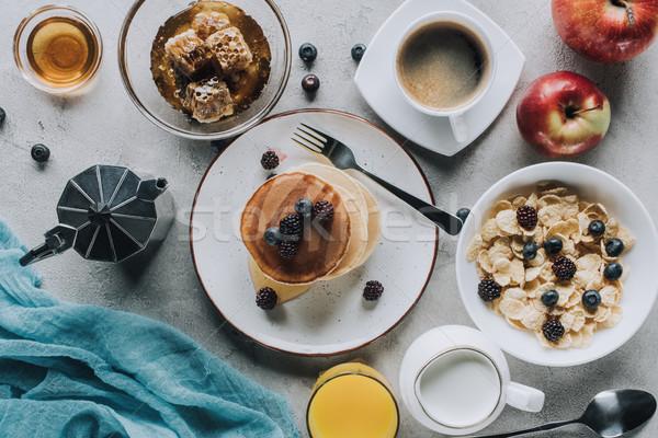 Top мнение вкусный здорового завтрак Сток-фото © LightFieldStudios