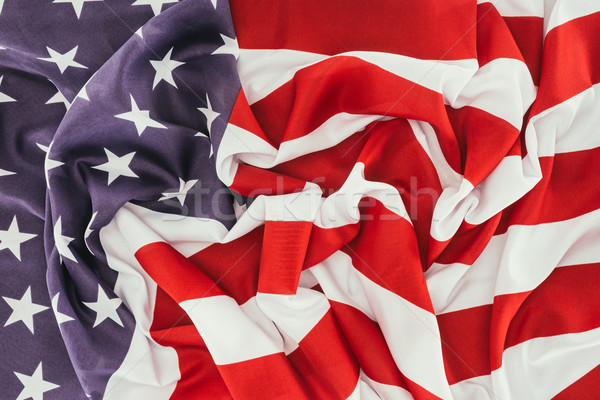 full frame of folded american flag, presidents day celebration concept Stock photo © LightFieldStudios