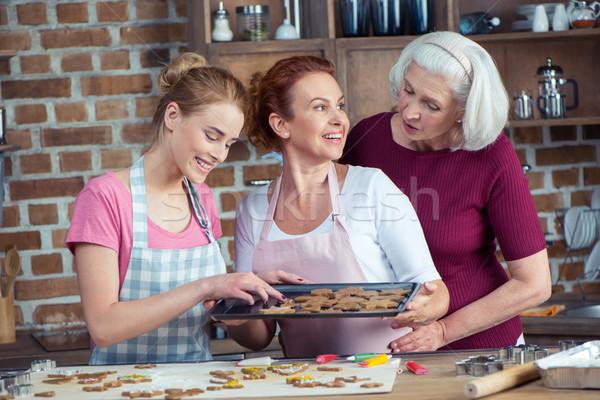 Making Christmas cookies Stock photo © LightFieldStudios