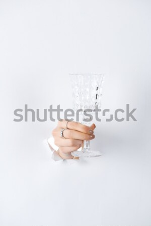 Személy tart üres szövegbuborék copy space izolált Stock fotó © LightFieldStudios