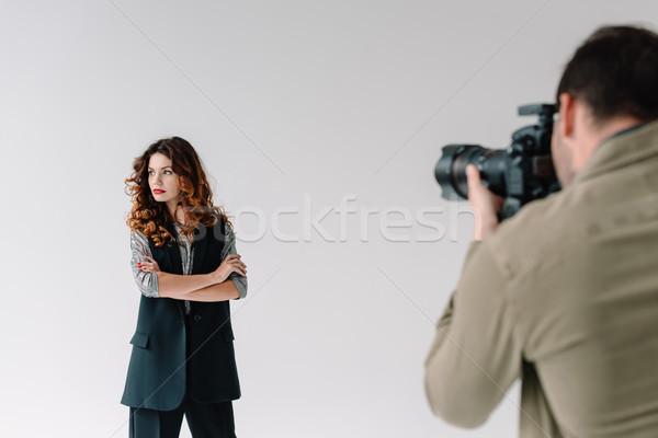 фотограф привлекательный модель профессиональных моде фото Сток-фото © LightFieldStudios