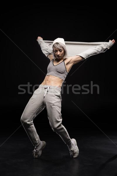 女性 スポーツウェア ダンス 黒 少女 ストックフォト © LightFieldStudios