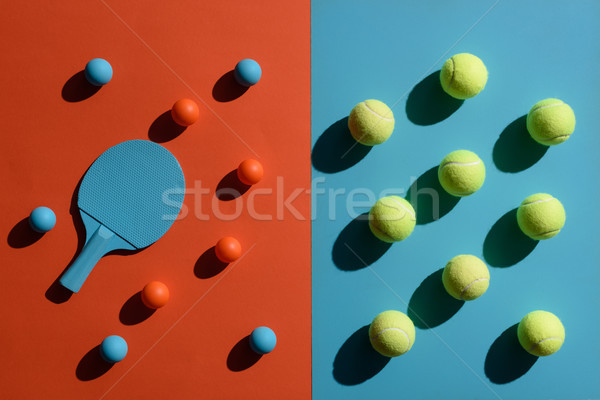 ping pong and tennis equipment Stock photo © LightFieldStudios
