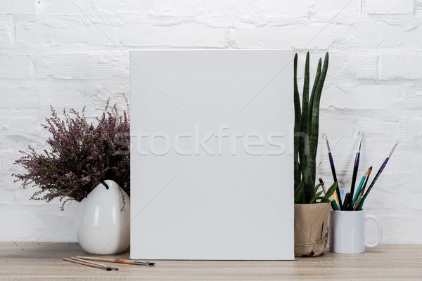 empty drawing easel on table Stock photo © LightFieldStudios
