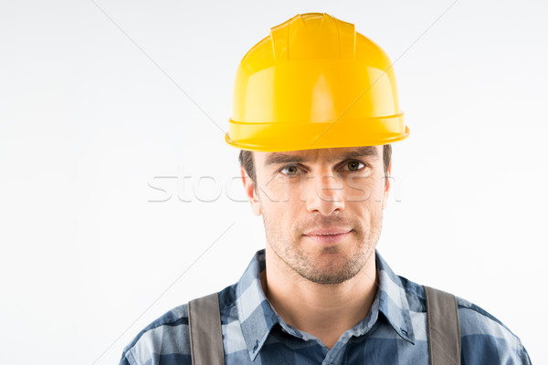 Construction worker in helmet Stock photo © LightFieldStudios
