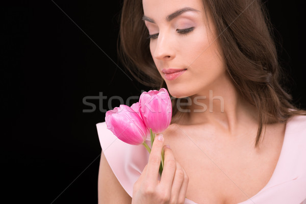 Hermosa rosa tulipanes Foto stock © LightFieldStudios