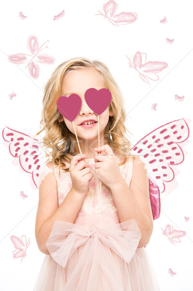 girl with butterfly wings Stock photo © LightFieldStudios