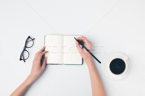 writing in notebok Stock photo © LightFieldStudios