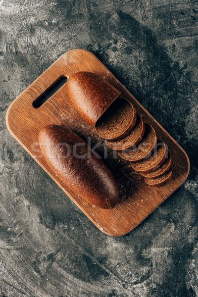 先頭 表示 ピース パン まな板 暗い ストックフォト © LightFieldStudios