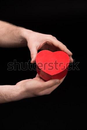 мнение человека сердце рук черный Сток-фото © LightFieldStudios