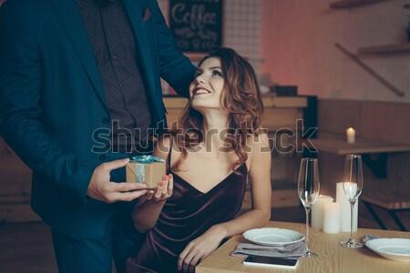 man surprising woman Stock photo © LightFieldStudios