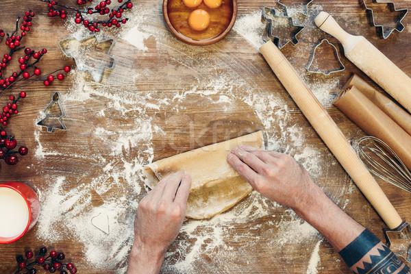 Stockfoto: Peperkoek · christmas · cookies · shot · persoon · handen
