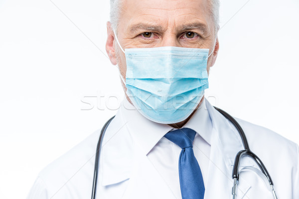 Stock photo: Doctor in medical mask