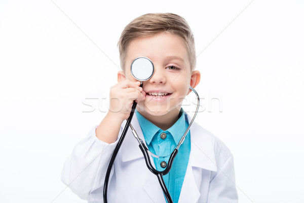 Stock photo: Boy in doctor costume