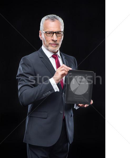 businessman wild digital tablet  Stock photo © LightFieldStudios