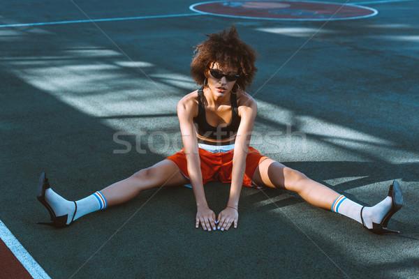 женщину спортивных суд молодые Сток-фото © LightFieldStudios