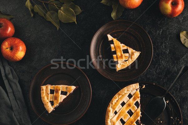 pieces of apple pie Stock photo © LightFieldStudios
