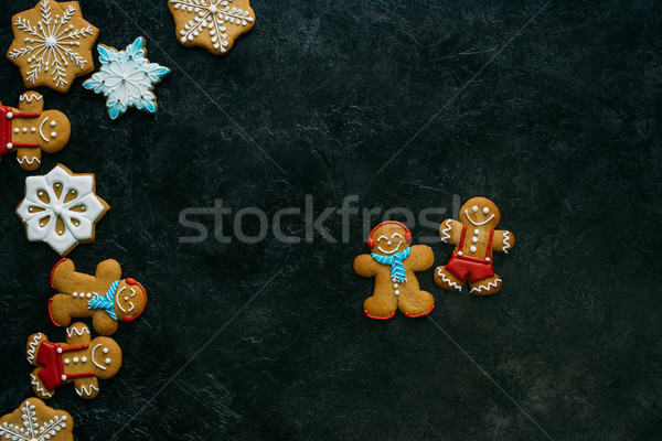 gingerbread men and snowflakes Stock photo © LightFieldStudios