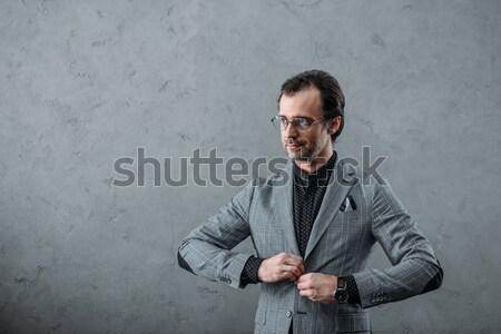 Elegancki w średnim wieku biznesmen przystojny garnitur kurtka Zdjęcia stock © LightFieldStudios