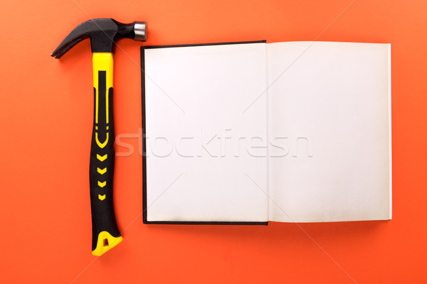 open book and hammer Stock photo © LightFieldStudios